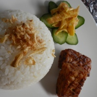Nasi Uduk in Rice Cooker