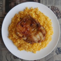 Middle Eastern Roast Chicken and Yellow Rice