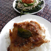 Ayam Taliwang and Plecing Kangkung