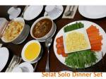 Selat solo dinner set