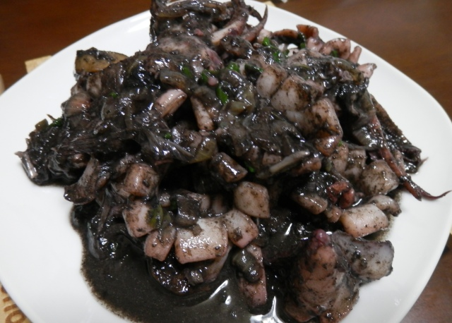 Stir Fry Squid in Black Ink