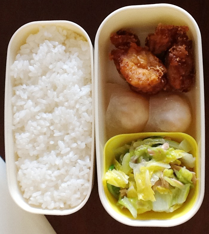 Karage, Har Ghaw, and sauted Chinese cabbage
