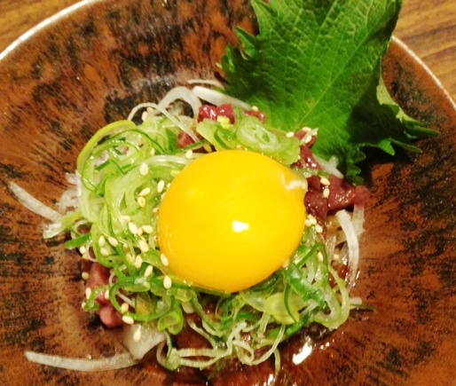 Basashi with Egg Yolk