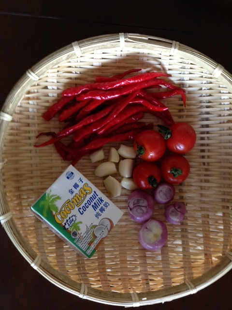 sambal ayam pop ingredients