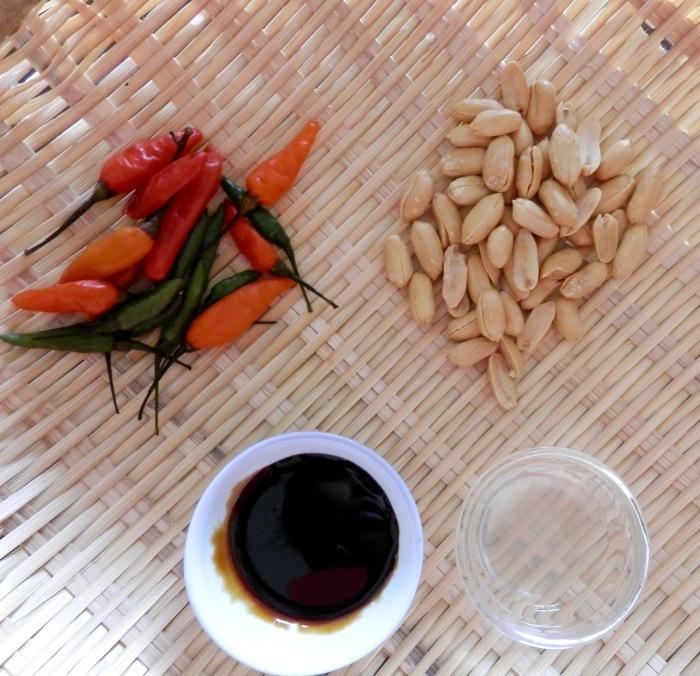 Sambal Kacang Ingredients
