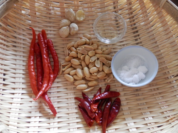 Sambal Kemiri Ingredients