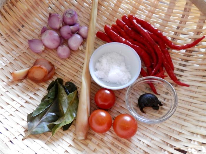 Sambal Ayam Goreng Bandung Ingredients