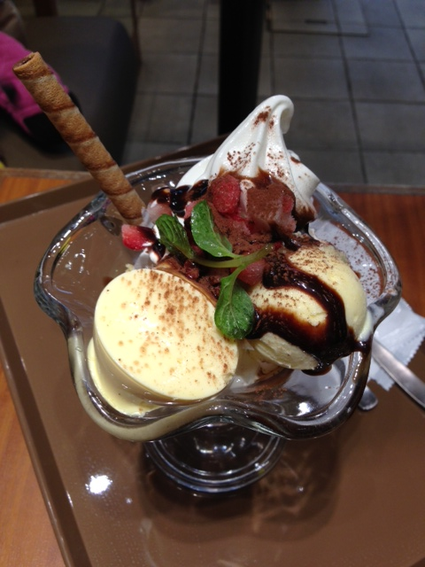 Choco cro chocolate sundae