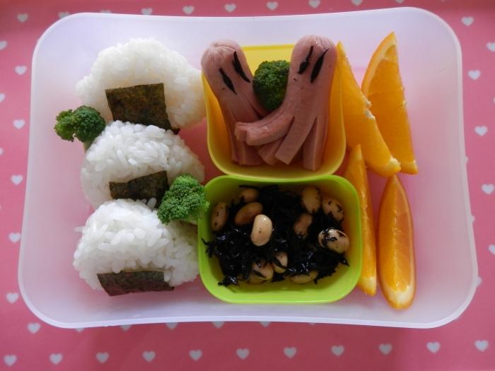 Chicken sausage onigiri