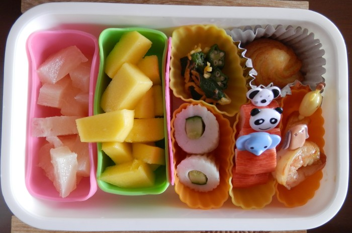 Fruit and fish cake
