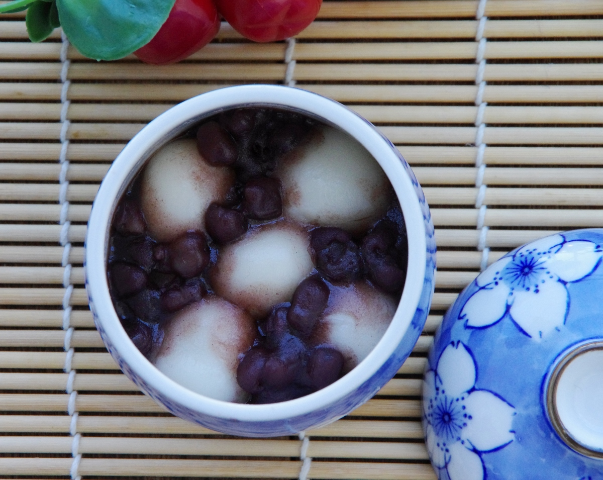 Shiratama Zensai (Japanese Sweet Red Bean Soup)