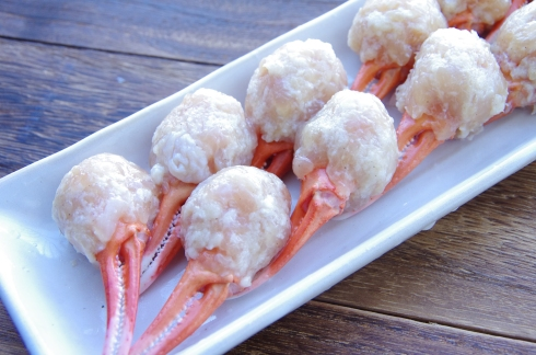 Fried crab legs