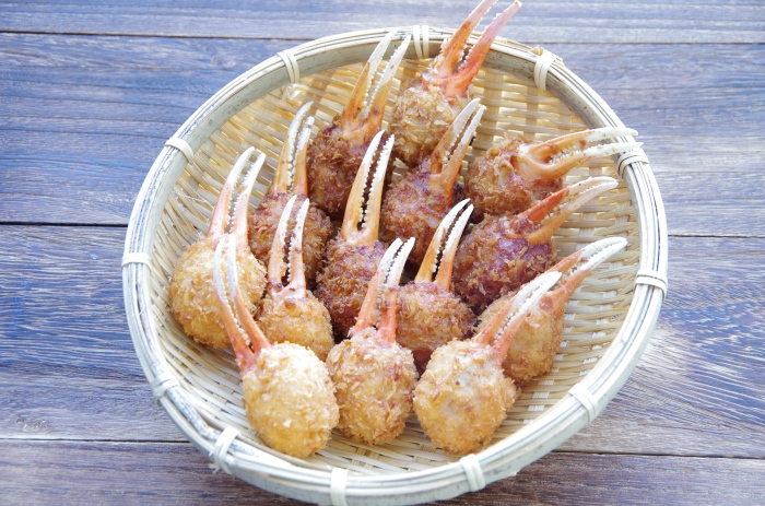 Fried crab leg