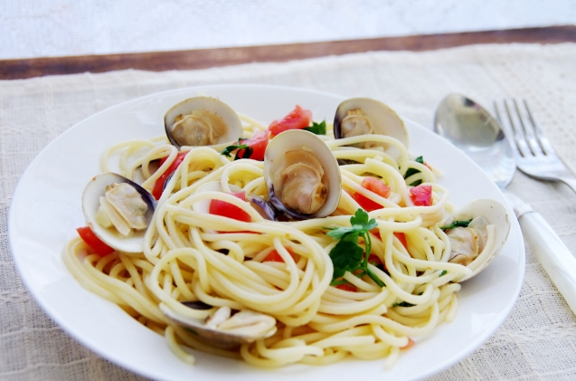 Spaghetti and Mussels